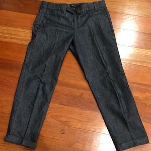 Gap cropped denim pants with cuff